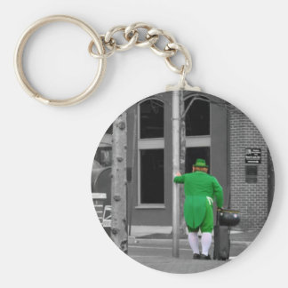 Leprechaun City Diversion Basic Round Button Key Ring