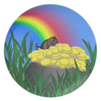 Leprechaun's Pot of Gold with Gerbil Party Plate