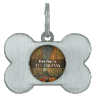 Les Alyscamps by Vincent van Gogh. Fall, autumn Pet ID Tag