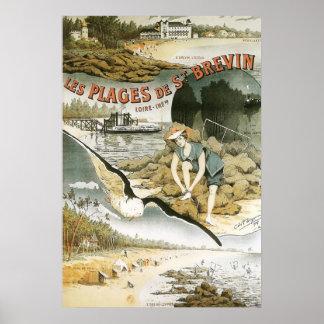 les plages de saint brevin poster