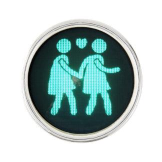 Lesbian Pedestrian Signal Lapel Pin