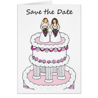 Lesbian Save the Date civil union wedding card. Card