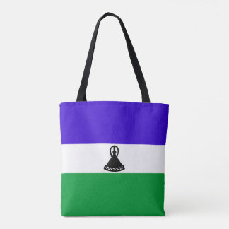 Lesotho country long flag nation symbol republic tote bag