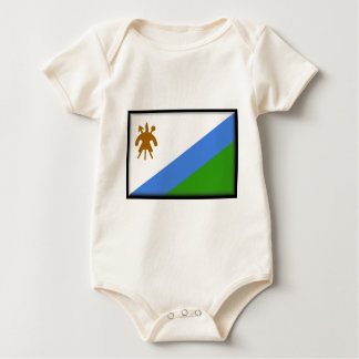 Lesotho Flag Baby Bodysuit