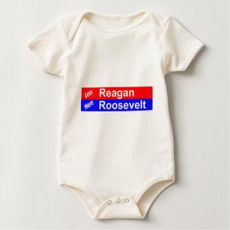 Less Reagan More Roosevelt Horizontal Baby Bodysuit