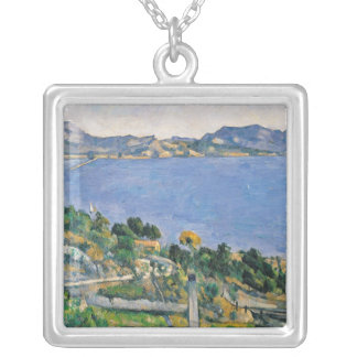 L'Estaque, View of the Bay of Marseilles Silver Plated Necklace