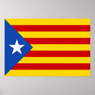 """L'Estelada Blava"" Catalan Independence Flag Poster"