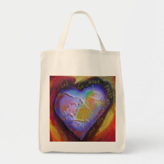Let go Have Faith and Fly tote