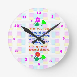 Let KIDS be KIDS : Wisdom words BE YOURSELF Round Clock