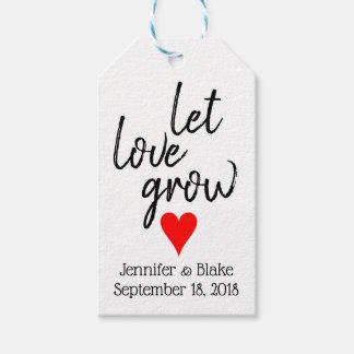 Let Love Grow Customizable Wedding Favor Tag