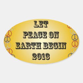 Let Peace on Earth Begin 2013 Oval Sticker