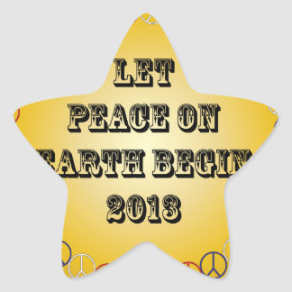 Let Peace on Earth Begin 2013 Stickers