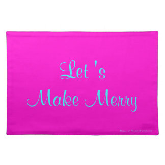 """""""Let 's Make Merry"""" Retro-Style Merry Xmas Design Placemat"""