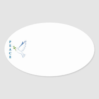 Let there be peace on earth this Christmas season! Oval Sticker