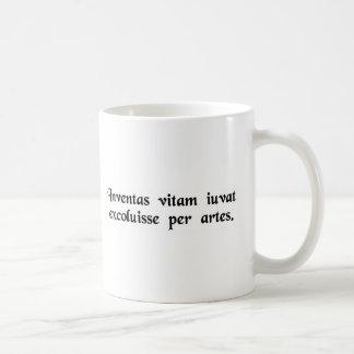 Let us improve life through science and art. coffee mug