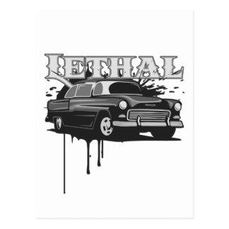 Lethal Hotrod Postcard