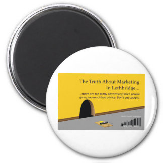 Lethbridge Marketing and Advertising 6 Cm Round Magnet