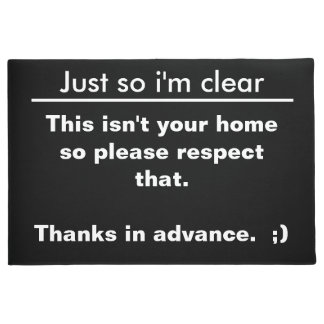Lets be clear doormat