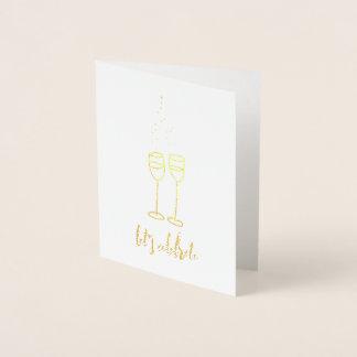 Let's Celebrate Foil Card