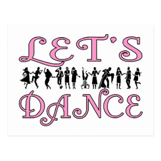 Let's Dance Post Card