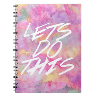 Lets do This Journal Spiral Note Books