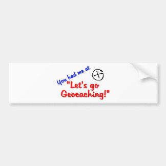 Let's Geocache Bumper Sticker