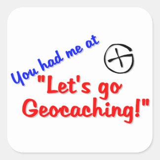 Let's Geocache Square Sticker
