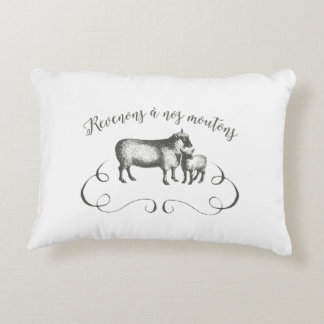 Let's Get Back to Our Sheep - Funny Vintage Farm Decorative Cushion