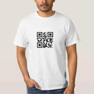 """""""Let's get it on"""" in QR code T-Shirt"""