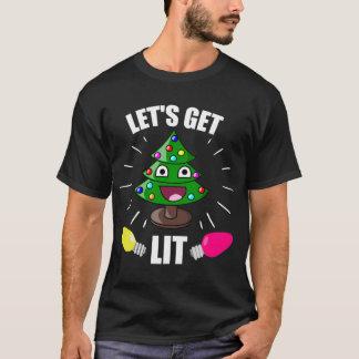 Let's Get Lit Christmas Humour T-Shirt