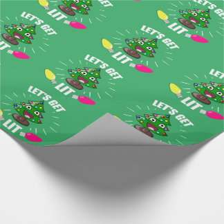 Lets get lit wrapping paper