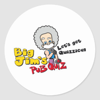 Lets get quizzical classic round sticker