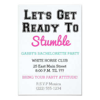 Let's Get Ready to Stumble Invitation