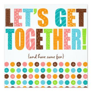 Let's Get Together! 13 Cm X 13 Cm Square Invitation Card