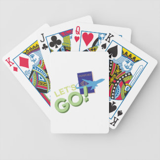 Lets Go Bicycle Playing Cards