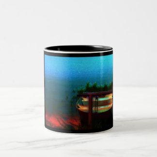 Let's Go Fishing Two-Tone Coffee Mug