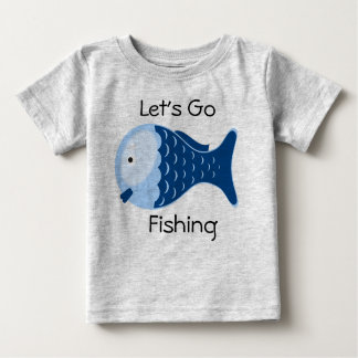 Let's Go Fishing Organic Baby One Piece Tee