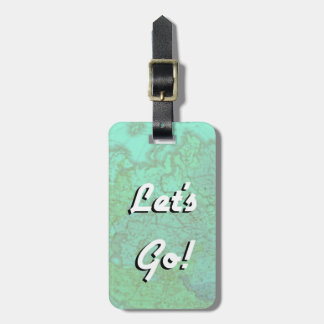 Let's Go! Leather Strap Luggage Tag