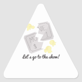 Let's Go To The Show! Triangle Sticker