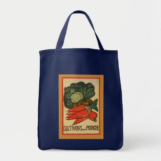 Let's Grow a Vegetable Garden Grocery Tote Bag