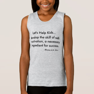 Let's Help Kids Girls' Spaghetti Strap Tank Top