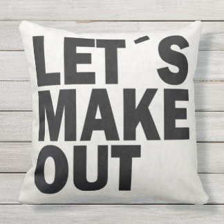 "Let's Make Out Throw Pillow 20"" x 20"""