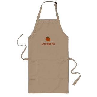 """""""Lets make Pie!"""" Cute Little Pumpkin with Text Long Apron"""