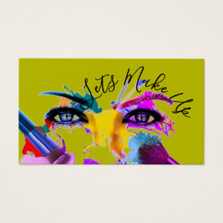 """Lets Make Up"", Make Up Artists Business Cards"