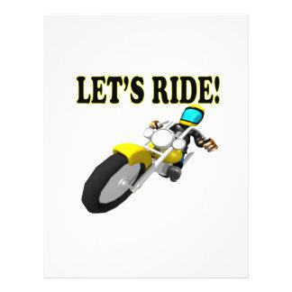 Lets Ride Flyer Design