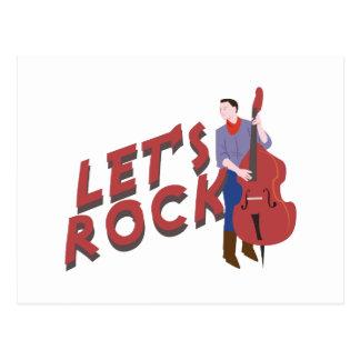 Let's Rock Postcard