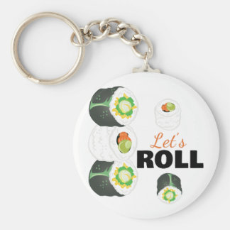 Lets Roll Basic Round Button Key Ring