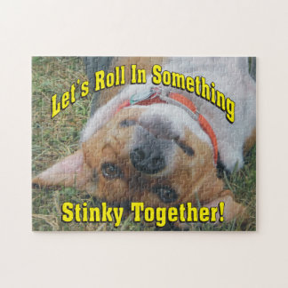 Let's Roll In Something Stinky Together Beagle Jigsaw Puzzle