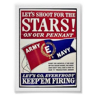 Let's Shoot For The Stars On Our Pennant Poster