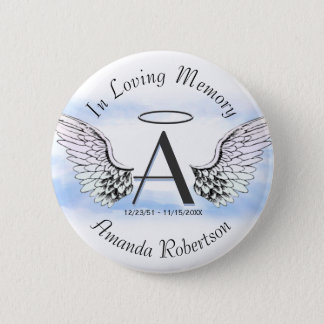 Letter A | Add Name | Memorial 6 Cm Round Badge